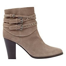 Buy Mint Velvet Margot Buckle Block Heeled Ankle Boots, Taupe Online at johnlewis.com