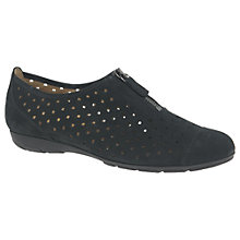Buy Gabor Gibson Perforated Zip Detail Pumps, Black Online at johnlewis.com