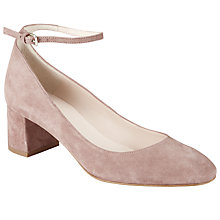 Buy John Lewis Angie Block Heeled Court Shoes, Nude Online at johnlewis.com