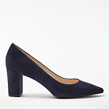 Buy John Lewis Ava Pointed Toe Court Shoes, Navy Online at johnlewis.com