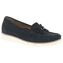 Buy Gabor Isabelle Bow Loafers, Navy Online at johnlewis.com