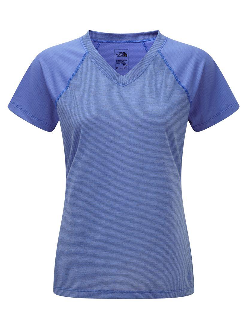 1e2897317 The North Face Reactor V-Neck Short Sleeve T-Shirt, Blue at John Lewis &  Partners