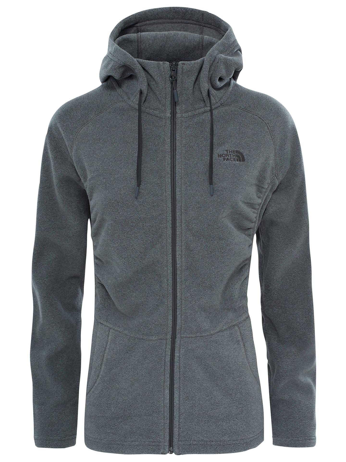 3515ac7f85 Buy The North Face Mezzaluna Full Zip Fleece Hoodie, Grey, S Online at  johnlewis ...
