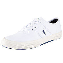 Buy Polo Ralph Lauren Tyrian Canvas Low-Top Trainers Online at johnlewis.com