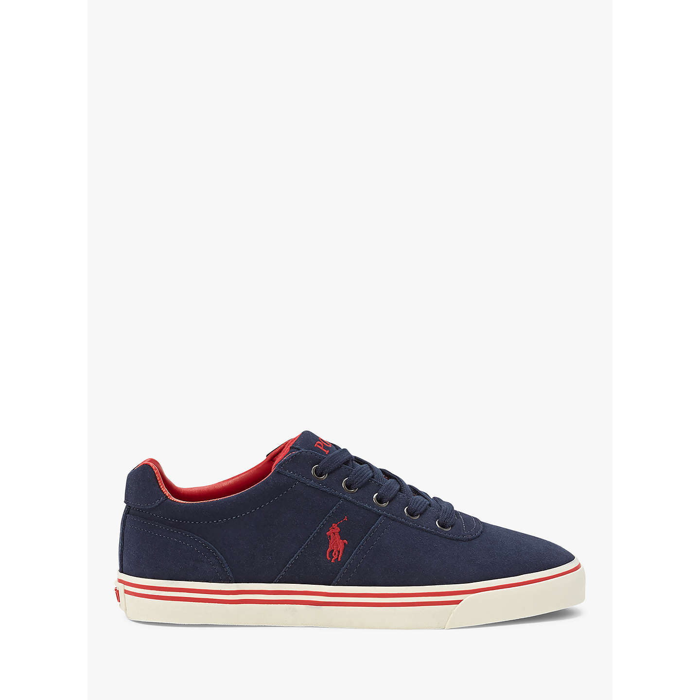 BuyPolo Ralph Lauren Hanford Suede Trainers, Navy, 7 Online at  johnlewis.com ...