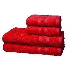 Buy John Lewis 4 Piece Egyptian Cotton Towel Bale, Red Online at johnlewis.com