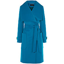 Buy Karen Millen Belted Coat, Blue Online at johnlewis.com