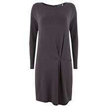Buy Mint Velvet Knitted Tuck Dress, Grey Online at johnlewis.com