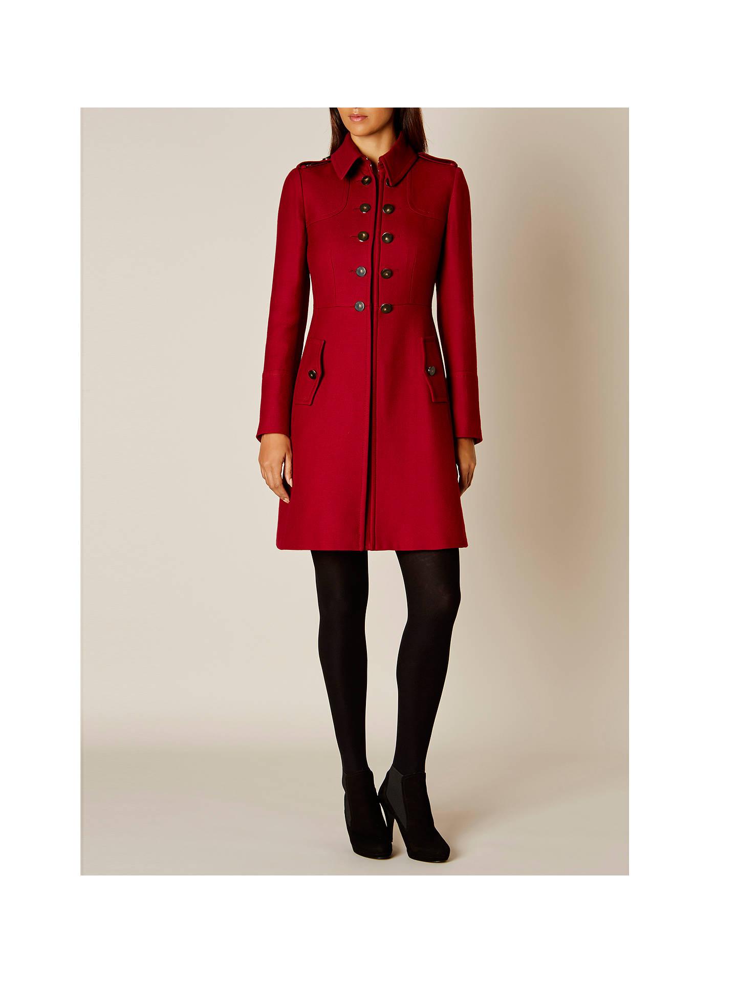 Image 2 of RED MILITARY COAT from Zara   Military coat, Coat