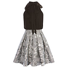 Buy Karen Millen Double Layer Dress, Silver Online at johnlewis.com