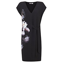 Buy Mint Velvet Luna Print Tie Side Dress, Black/Multi Online at johnlewis.com