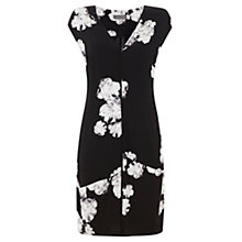 Buy Mint Velvet Rosamund Print Cocoon Dress, Black/Multi Online at johnlewis.com
