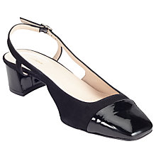 Buy John Lewis Carin Slingback Court Shoes, Black Online at johnlewis.com