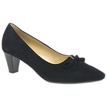 Buy Gabor Pearl Pointed Toe Court Shoes, Black Online at johnlewis.com