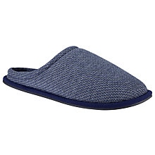 Buy Kin by John Lewis Geo Print Slippers, Grey/Blue Online at johnlewis.com
