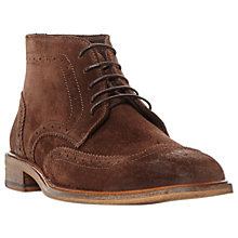 Buy Bertie Canister Brogue Boots, Brown Online at johnlewis.com