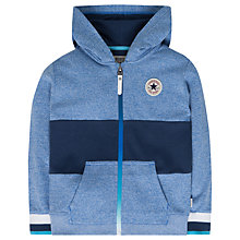 Buy Converse Boys' Colour Block Marl Zip Through Hoodie, Blue Online at johnlewis.com