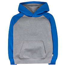 Buy Converse Boys' Embossed Chuck Patch Raglan Pullover Hoodie, Grey/Blue Online at johnlewis.com