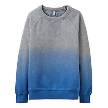 Buy Little Joule Boys' Miller Crew Sweatshirt, Grey Marl/Blue Online at johnlewis.com