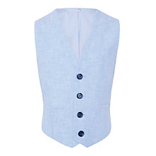 Buy John Lewis Heirloom Collection Boys' Linen Cotton Suit Waistcoat, Sky Blue Online at johnlewis.com