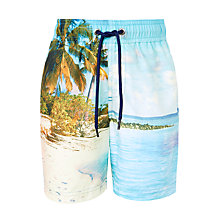 Buy John Lewis Boys' Photographic Boardshorts, Multi Online at johnlewis.com