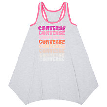Buy Converse Girls' Trapeze Dress, Grey/Pink Online at johnlewis.com