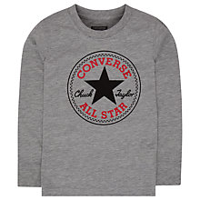 Buy Converse Boys' Long Sleeve Chuck Patch T-Shirt, Dark Grey Online at johnlewis.com