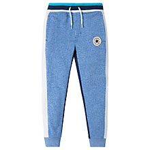 Buy Converse Boys' Colour Block Marl Joggers, Blue Online at johnlewis.com