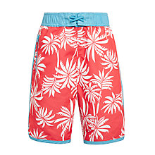 Buy John Lewis Boys' Palm Surf Swimming Shorts, Coral Online at johnlewis.com