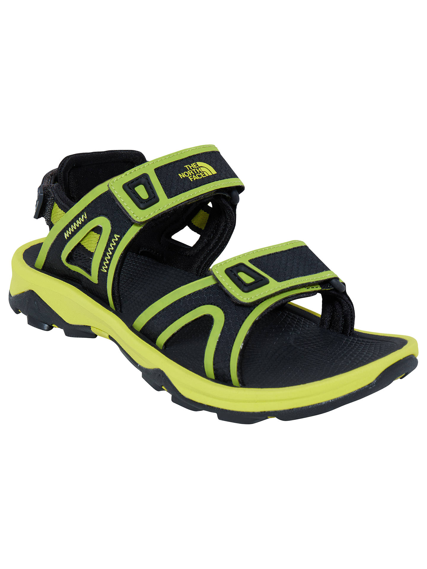 a189c3b5f The North Face Hedgehog II Men's Sandals, Green at John Lewis & Partners