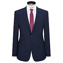 Buy Calvin Klein Pindot Wool Tailored Fit Suit Jacket, Indigo Online at johnlewis.com