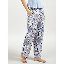 Buy John Lewis Lucinda Tapered Pyjama Bottoms, Navy/Melon Online at johnlewis.com