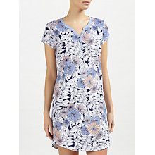 Buy John Lewis Lucinda Short Sleeve Night Dress, Navy/Melon Online at johnlewis.com