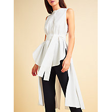 Buy Modern Rarity palmer//harding Long Back Sleeveless Shirt, White Online at johnlewis.com