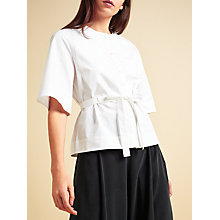 Buy Modern Rarity palmer//harding Short Sleeve Bib Shirt, White Online at johnlewis.com