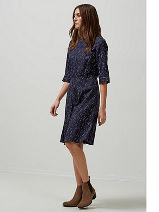Buy Selected Femme Gaila Printed Dress, Dark Sapphire, 12 Online at johnlewis.com
