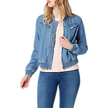Buy Lee Denim Bomber Jacket, Flat Mid Online at johnlewis.com