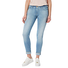 Buy Lee Scarlett Selvage Regular Waist Skinny Jeans, Selvage Light Online at johnlewis.com