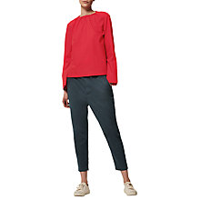 Buy Toast Stretch Cotton Twill Pull On Trousers, Blue Slate Online at johnlewis.com