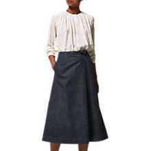 Buy Toast Long Stretch Denim Skirt, Indigo Online at johnlewis.com