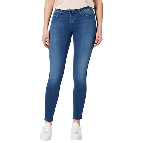 Buy Lee Scarlett Regular Waist Skinny Jeans, Worn Pacific | John Lewis