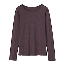 Buy Toast Easy Stripe T-Shirt, Dark Marine/Mulberry Online at johnlewis.com