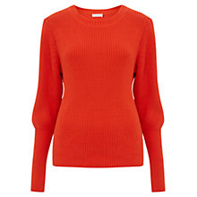 Buy Finery Bloomfield Volume Sleeve Knit Jumper, Red Online at johnlewis.com