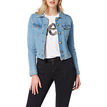 Buy Lee Denim Rider Jacket, Bleached Stone Online at johnlewis.com