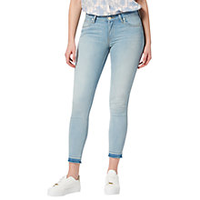 Buy Lee Scarlett Regular Waist Skinny Raw Hem Jeans, Chaos Bleach Online at johnlewis.com