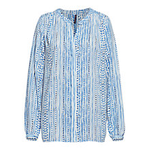 Buy NYDJ City Of Lights Dot Print Blouse, Blue/White Online at johnlewis.com