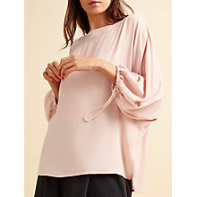 Buy Modern Rarity Drawstring Sleeve Top, Rose Online at johnlewis.com