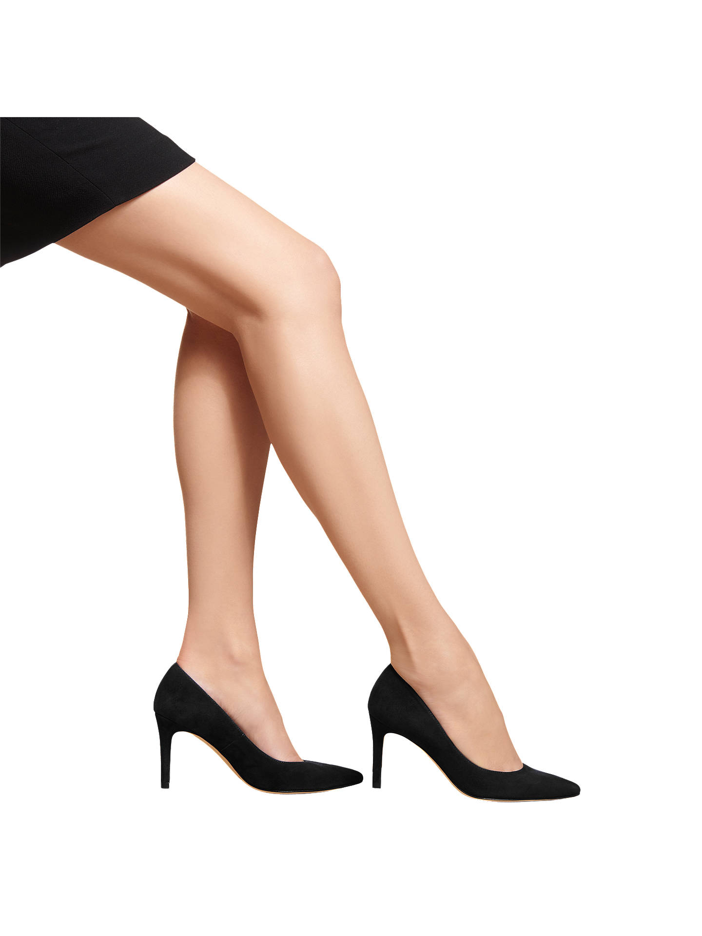 Buy L.K.Bennett Floret Pointed Court Shoes, Black Suede, 2 Online at johnlewis.com