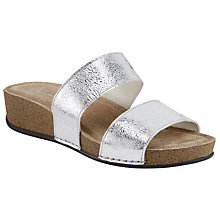Buy John Lewis Two Strap Sandals, Silver Online at johnlewis.com
