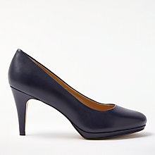 Buy John Lewis Alicia Platform Cone Heeled Court Shoes, Navy Online at johnlewis.com